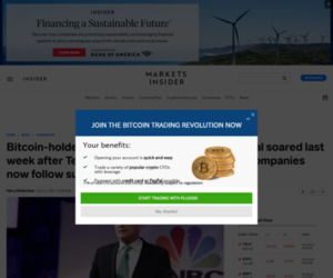 Bitcoin-holders MicroStrategy and Galaxy Digital soared last week after Tesla bought $1.5 billion. Will other companies now follow suit? | Currency News |  Financial and Business News | Markets Insider