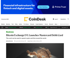 Bitcoin Exchange LVL Launches Mastercard Debit Card - CoinDesk