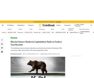 Bitcoin Futures Traders Turn Bearish, Signaling Capitulation - CoinDesk