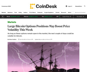 Large Bitcoin Options Positions May Boost Price Volatility This Week - CoinDesk