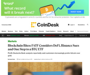 Blockchain Bites: FATF Considers DeFi, Binance Sues and One Step to a BTC ETF - CoinDesk