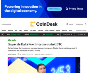 Grayscale Halts New Investments in GBTC - CoinDesk