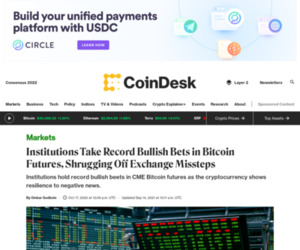 Institutions Take Record Bullish Bets in Bitcoin Futures, Shrugging Off Exchange Missteps - CoinDesk