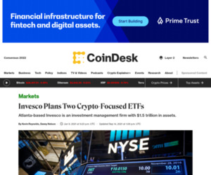 Invesco Plans Two Crypto-Focused ETFs - CoinDesk