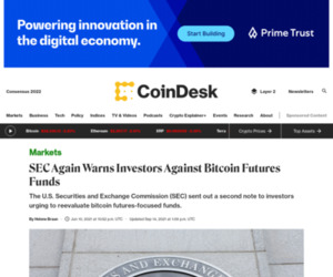 SEC Again Warns Investors Against Bitcoin Futures Funds - CoinDesk