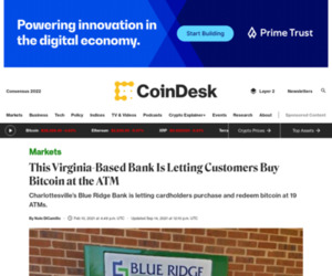 This Virginia-Based Bank Is Letting Customers Buy Bitcoin at the ATM - CoinDesk