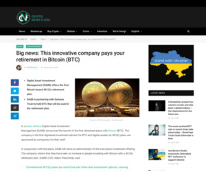 Big news: This innovative company pays your retirement in Bitcoin (BTC)