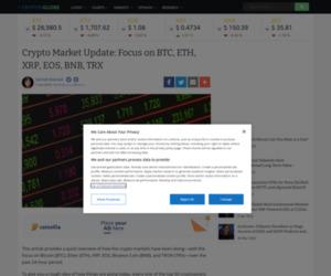 Crypto Market Update: Focus on BTC, ETH, XRP, EOS, BNB, TRX | CryptoGlobe