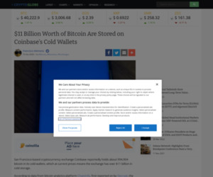 $11 Billion Worth of Bitcoin Are Stored on Coinbase's Cold Wallets   Cryptoglobe
