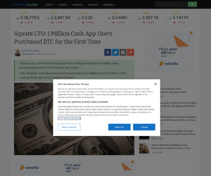 Square CFO: 1 Million Cash App Users Purchased BTC for the First Time | Cryptoglobe