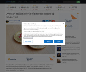 Over $34 Million Worth of Bitcoin Soon Be up for Auction | Cryptoglobe