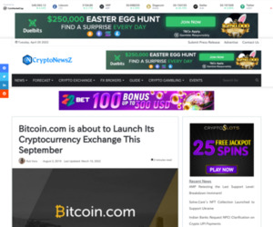 Bitcoin.com is about to Launch Its Cryptocurrency Exchange This September - CryptoNewsZ