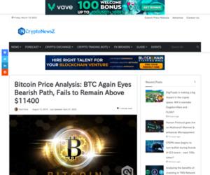 Bitcoin Price Analysis: BTC Again Eyes Bearish Path