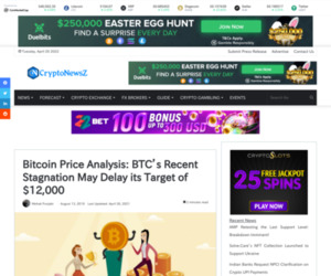 Bitcoin Price Analysis: BTC's Recent Stagnation May Delay its Target of $12,000 - CryptoNewsZ