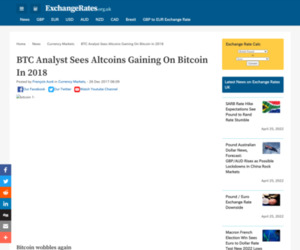 BTC Analyst Sees Altcoins Gaining On Bitcoin In 2018