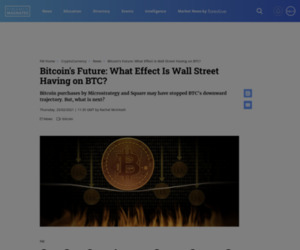 Bitcoin's Future: What Effect Is Wall Street Having on BTC? | Finance Magnates