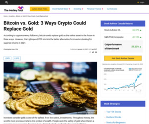 Bitcoin vs. Gold: 3 Ways Crypto Could Replace Gold | The Motley Fool Canada