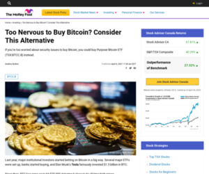 Too Nervous to Buy Bitcoin? Consider This Alternative | The Motley Fool Canada