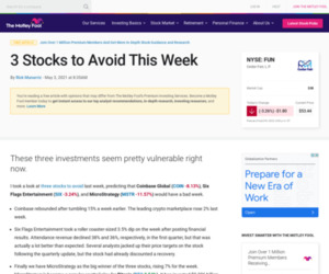 https://www.fool.com/investing/2021/05/03/3-stocks-to-avoid-this-week/