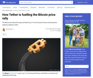 How Tether is fuelling the Bitcoin price rally