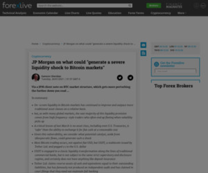 """JP Morgan on what could """"generate a severe liquidity shock to Bitcoin markets"""""""