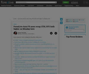 ForexLive Asia FX news wrap: ETH, BTC both higher on Monday here