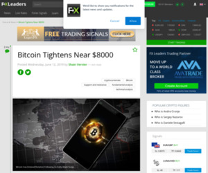 Bitcoin Tightens Near $8000 - Forex News by FX Leaders