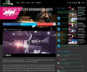 Get On The Bitcoin Bandwagon With Age Of Rust - GameSpace.com