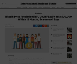 Bitcoin Price Prediction: BTC Could 'Easily' Hit $100,000 Within 12 Months, Scaramucci Says