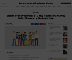 Bitcoin Price Prediction: BTC May Reach $170,000 By 2022, Bloomberg Strategist Says