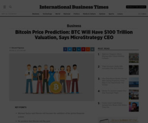 Bitcoin Price Prediction: BTC Will Have $100 Trillion Valuation, Says MicroStrategy CEO