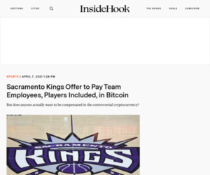 Sacramento Kings Offer to Pay Players in Bitcoin - InsideHook