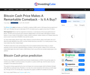 Bitcoin Cash Price Makes a Remarkable Comeback - Is It a Buy?