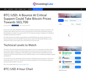 BTC/USD: A Bounce At Critical Support Could Take Bitcoin Prices Towards $63,700