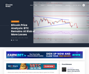 Bitcoin Price Analysis: BTC Remains At Risk of More Losses   Live Bitcoin News