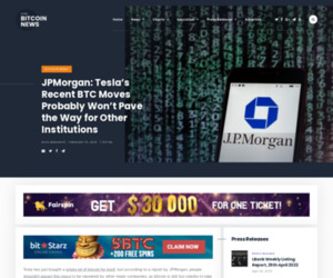 JPMorgan: Tesla's Recent BTC Moves Probably Won't Pave the Way for Other Institutions   Live Bitcoin News