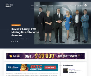 Kevin O'Leary: BTC Mining Must Become Greener | Live Bitcoin News
