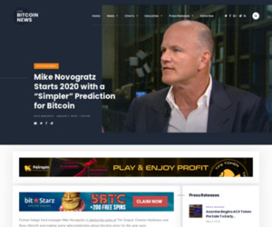 """Mike Novogratz Starts 2020 with a """"Simpler"""" Prediction for Bitcoin   Live Bitcoin News"""