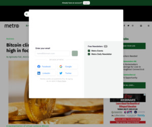 Bitcoin climbs to three-year peak, all-time high in focus - Metro US