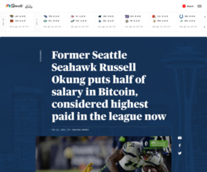 Former Seattle Seahawk Russell Okung puts half of salary in Bitcoin, considered highest paid in the league now  | RSN