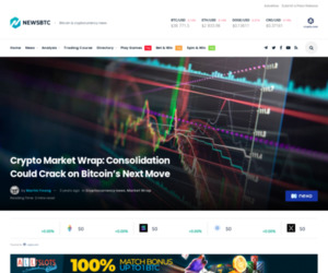 Crypto Market Wrap: Consolidation Could Crack on Bitcoin's Next Move
