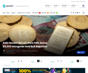 Safe Haven? Bitcoin Price Falls Below $11,000 Alongside Gold Bull Rejection