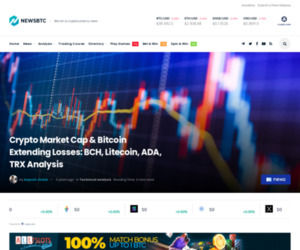 Crypto Market Cap & Bitcoin Extending Losses: BCH, Litecoin, ADA, TRX Analysis   NewsBTC