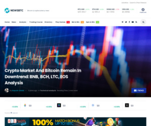 Crypto Market And Bitcoin Remain In Downtrend: BNB, BCH, LTC, EOS Analysis   NewsBTC