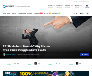 TA: Here's Why Bitcoin Price Could Struggle To Gain Momentum Above $57.5K