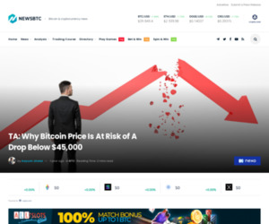 TA: Why Bitcoin Price Is At Risk of A Drop Below $45,000