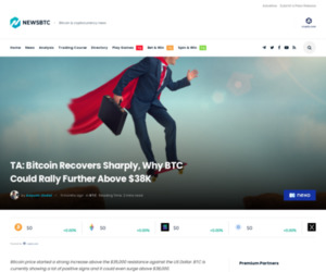 TA: Bitcoin Recovers Sharply, Why BTC Could Rally Further Above $38K