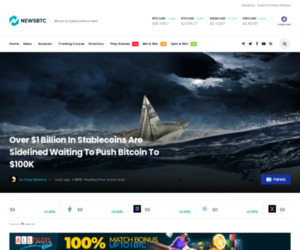 Over $1 Billion In Stablecoins Are Sidelined Waiting To Push Bitcoin To $100K