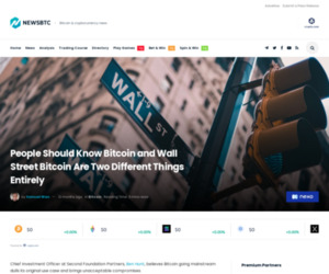 People Should Know Bitcoin and Wall Street Bitcoin Are Two Different Things Entirely