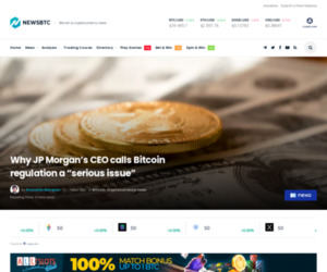 """Why JP Morgan CEO calls Bitcoin regulation a """"serious issue"""""""